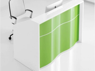 Leyla 1 – Compact Wave Reception Desk -