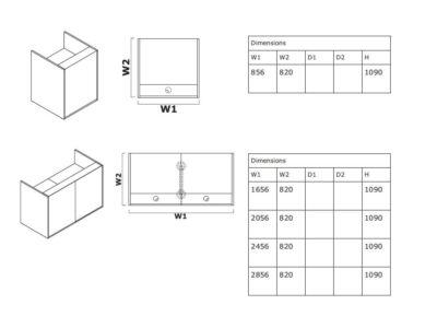 Dimension Andreas 1 – Straight Reception Desk