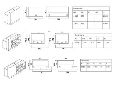 Dimension Olie – White Reception Desk With Back Lit Rgb Colour Light