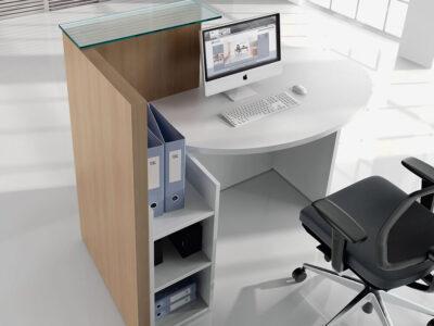 Everly – Small Reception Desk In White1