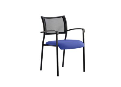 The Bruncwick Visitor Chair Black Fabric - Office chair