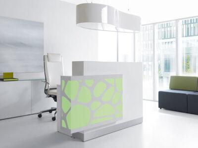 Olie – White Reception Desk With Back Lit Rgb Colour Light4