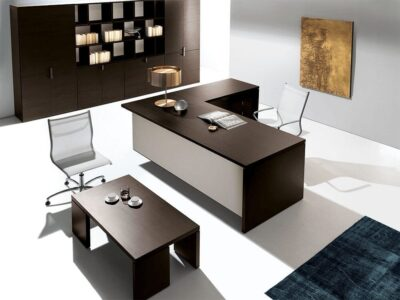 Marl – Solid L-Shaped Wooden Executive Desk -