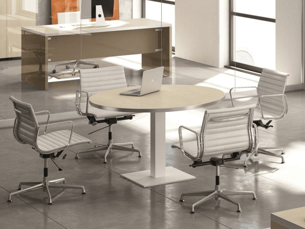 Olea – Round Meeting Table with Square Base - Table