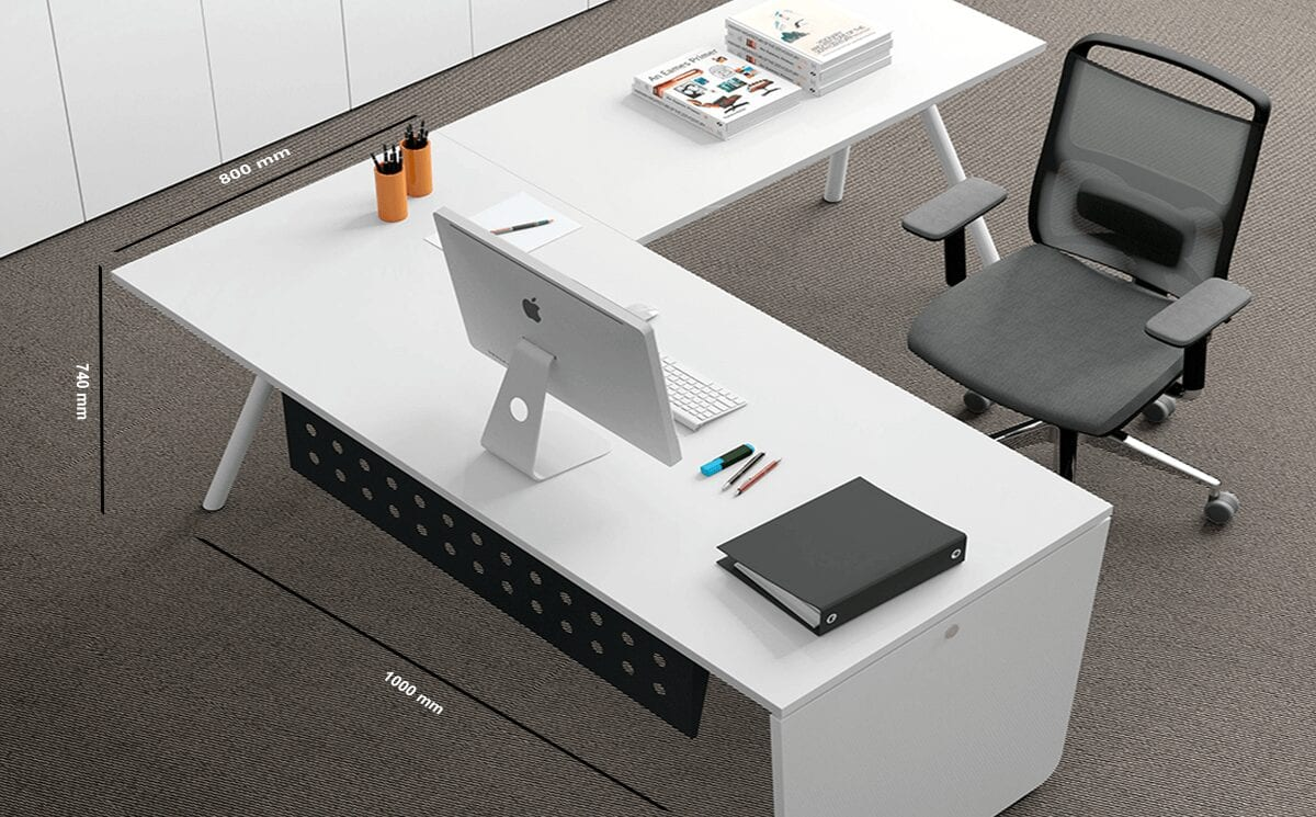 Leo – Wooden Executive Desk with Contrasting Legs