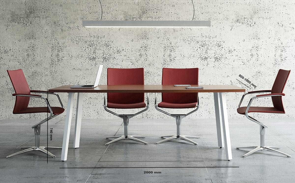 Solera – Barrel Shaped Meeting Table with White Legs