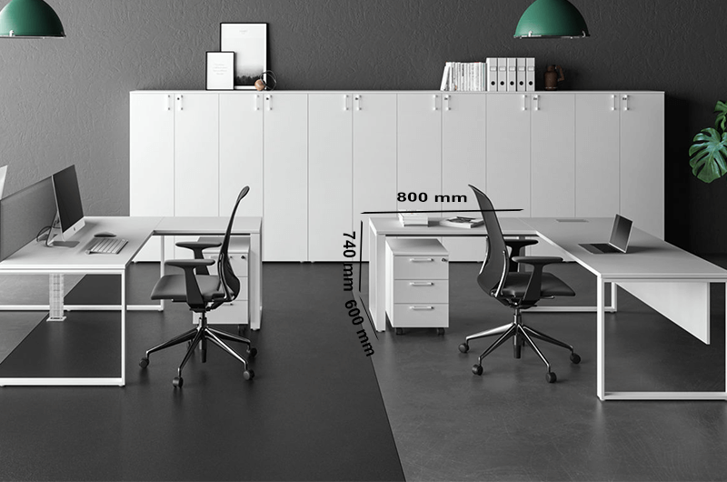 Size (extension) Dhanetti Ring Leg Operational Desk2