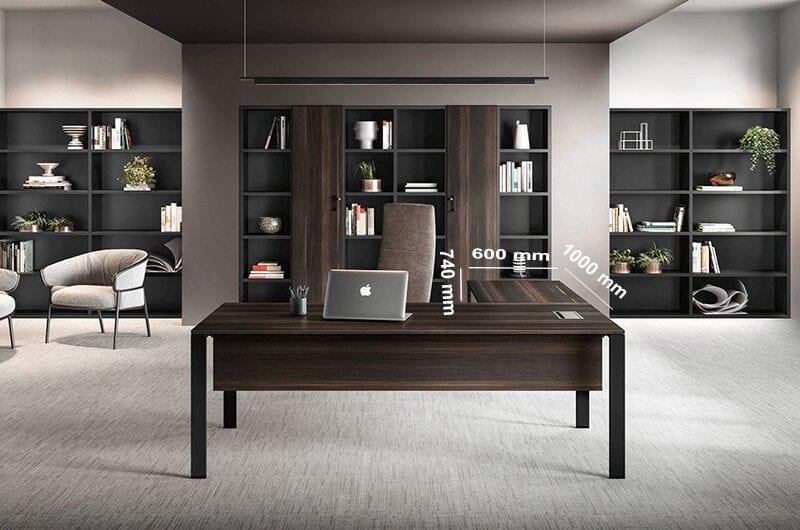 Alexia – U-Leg Wood Finish Executive Desk