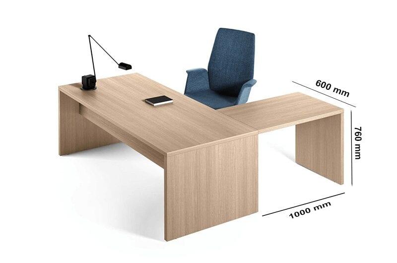Alora – Woodside Executive Desk with Slab Legs