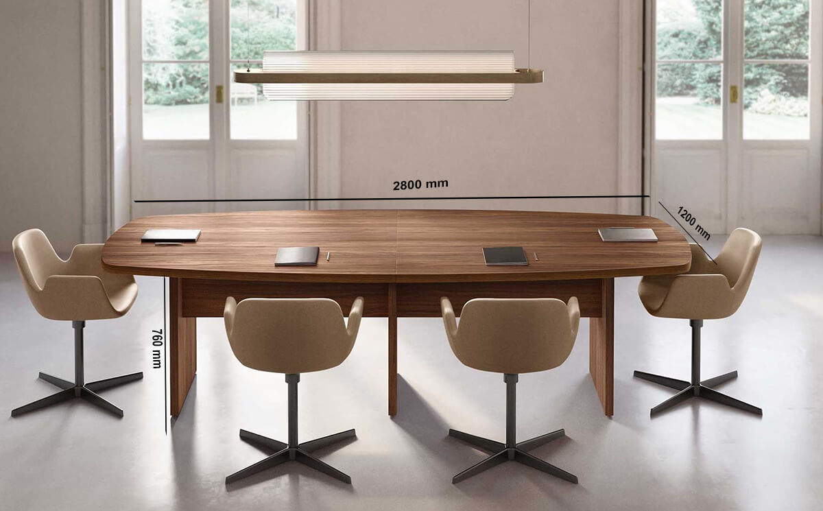 Size Palm – Woodside Meeting Table