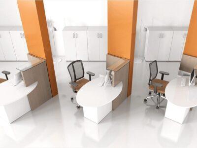 Everly – Small Reception Desk in White