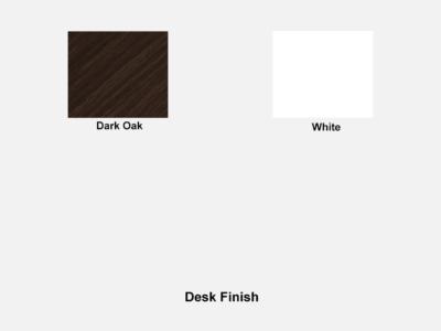60 Degree Reception Desk In White Desk Finish