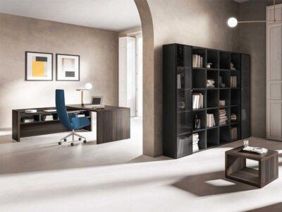 Seoul – Wood Finish Executive Desk with Side Unit