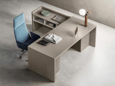 Seoul – Woodside Executive Desk with Side Unit
