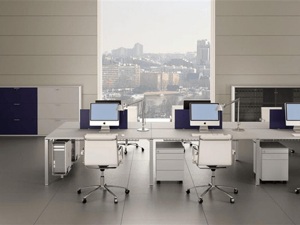 Quinn – Straight Operator Office Desk with Modesty Panel