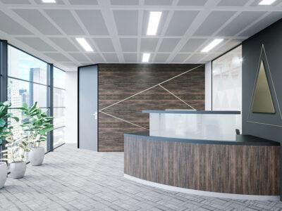 Aida 2 – Reception Desk In Westminster Oak