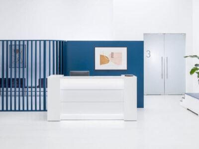 Alba 4 – Modern Lacquered Reception Desk
