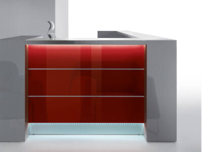 Alba 4 – Modern Lacquered Reception Desk1