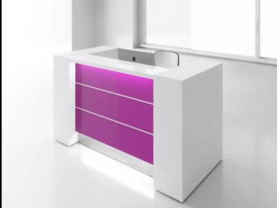 Alba 4 – Modern Lacquered Reception Desk2