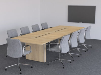 Aurora – Rectangle Boardroom Table With Slab Legs