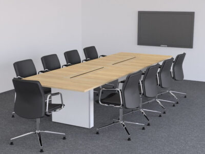 Aurora – Rectangle Boardroom Table With Slab Legs1