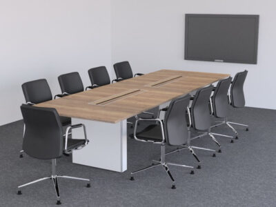 Aurora – Rectangle Boardroom Table With Slab Legs2