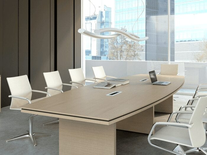 Chalk – Barrel Shaped Boardroom Table
