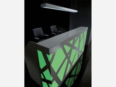 Renzo 2 – Reception Desk with Multi-Coloured Front Lights