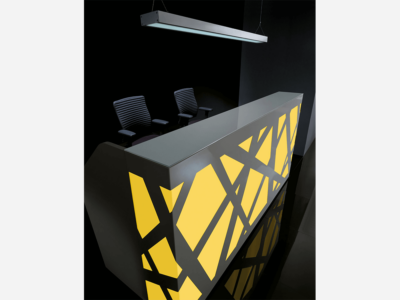 Black Reception Desk With Multi Colored Front Lights – Ajax Ax 1 Color4