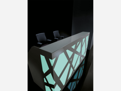 Black Reception Desk With Multi Colored Front Lights – Ajax Ax 1 Color5