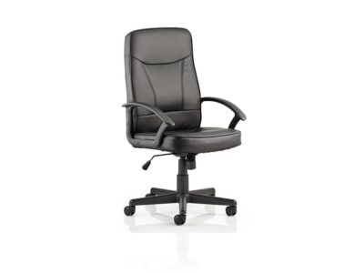 Fred – Black Bonded Leather Executive Chair with Arms -
