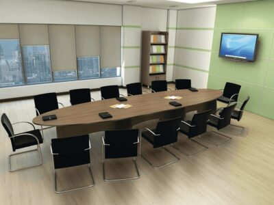 Leah – Wooden Oval Conference Table