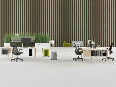 Cora – Wood Square Operational Office Desk Range Main Image