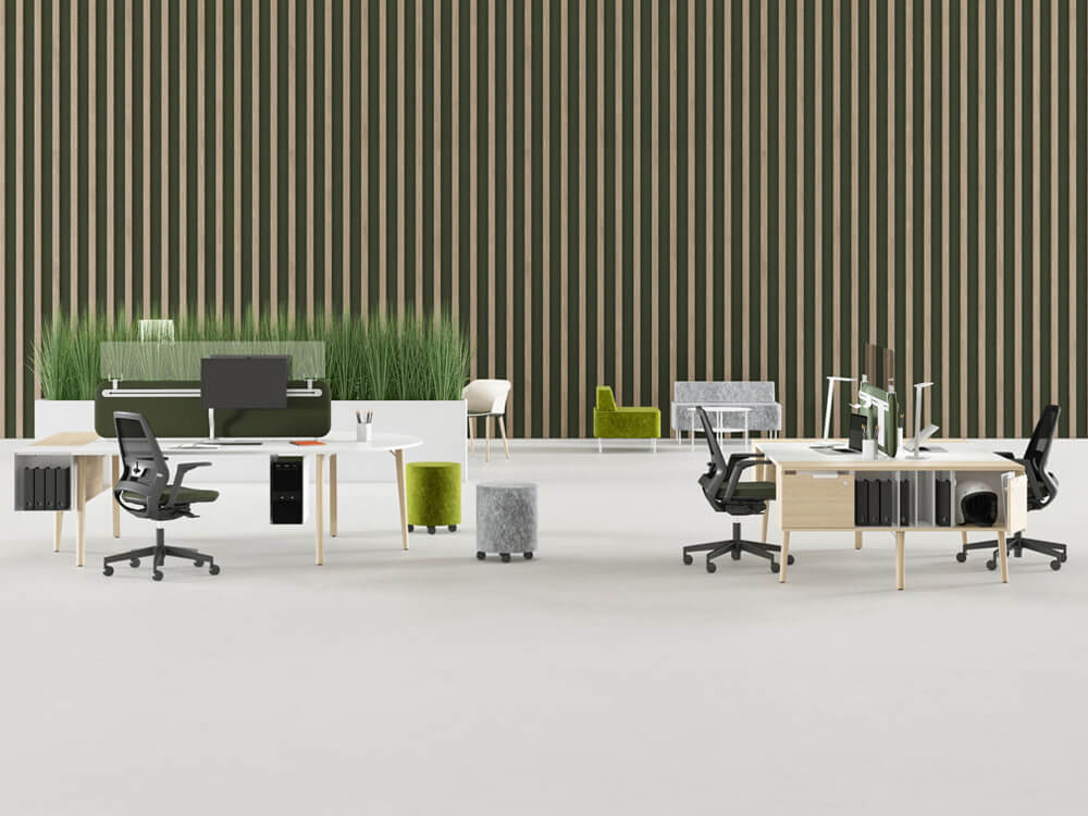 Cora – Wood Square Operational Office Desk Range Main Image