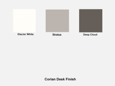 Corian Finish Reem – Reception Desk With Wheelchair Access In Premium White