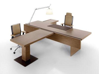 Darcey Prestigious Executive Desk With Wooden Top