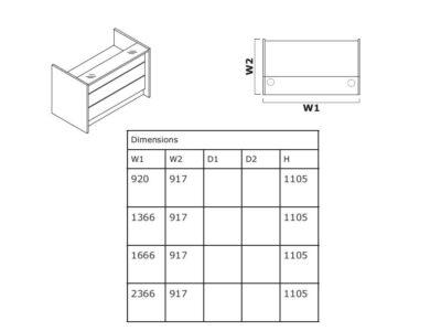 Dimension Alba 2 – Reception Desk In White With Led Illumination