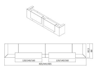 Mona 2 – Large Modular Reception Desk in White