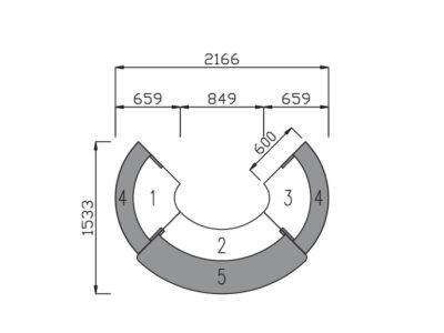 Dimension Mode – Circular Reception Desk