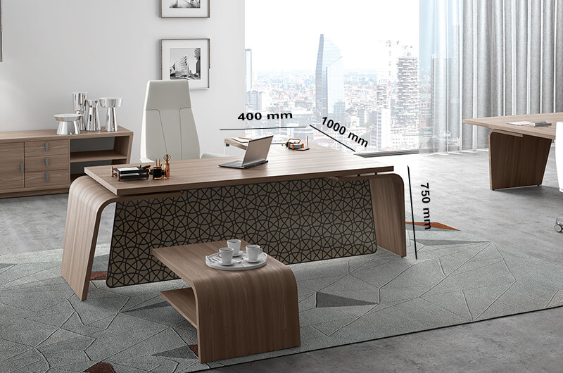 (extension) Oxford – Curved Executive Desk