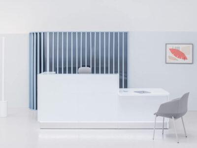 Finley – Silver Reception Desk With Wheelchair Access2
