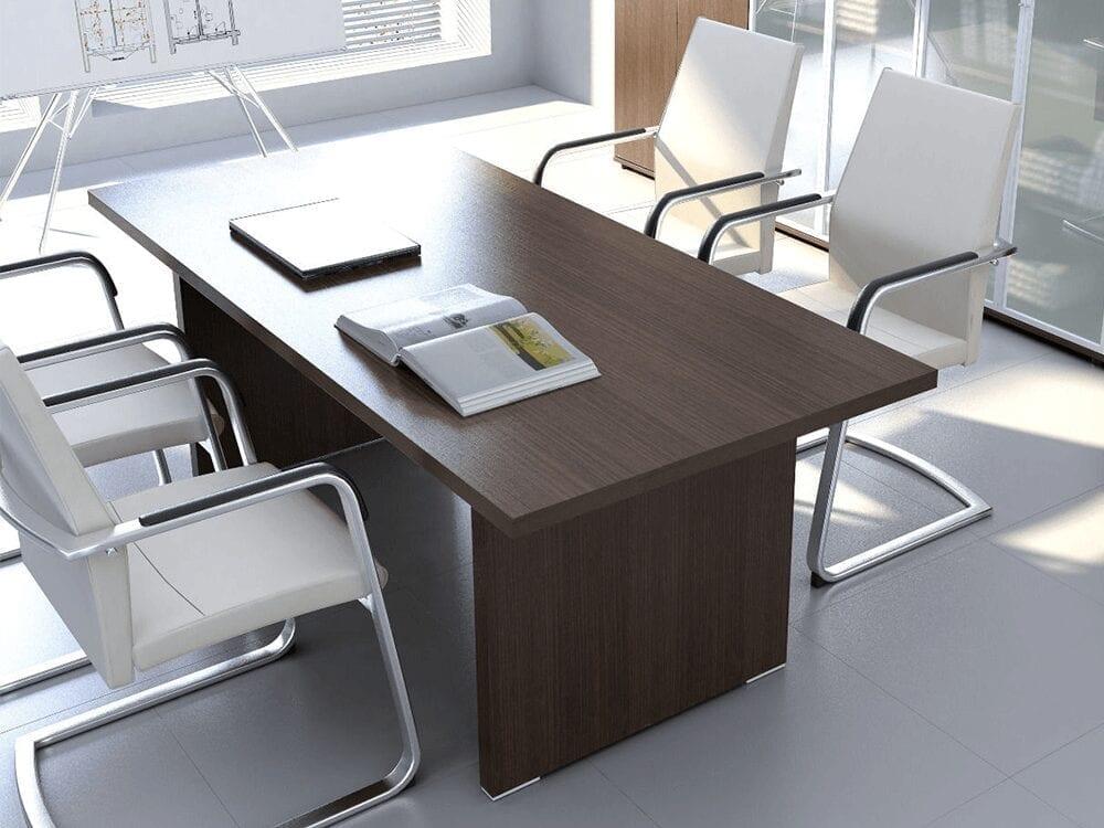 Memphis – Slab Leg Boardroom Table