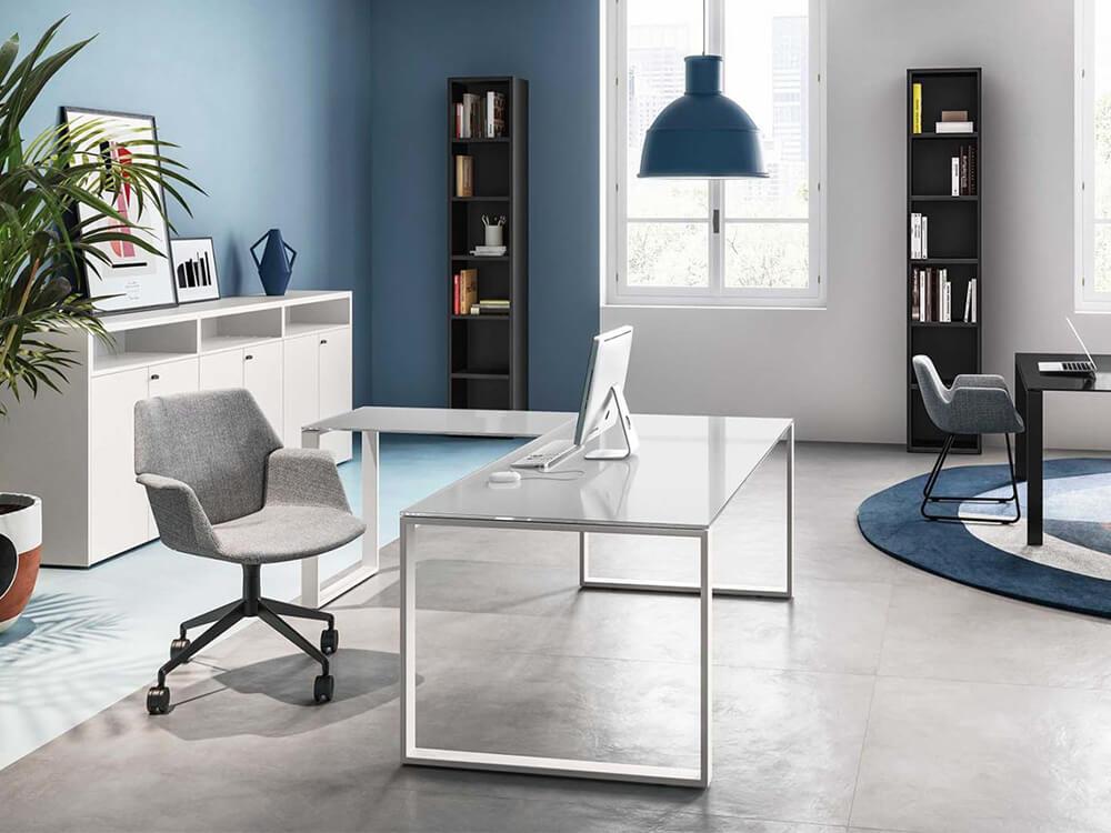 Gus – Ring Leg Glass Executive Desk (1)