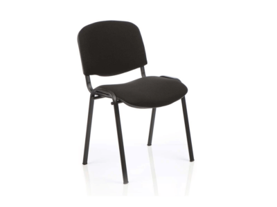 Iso Stacking Chair Black Fabric Black Frame Black Black