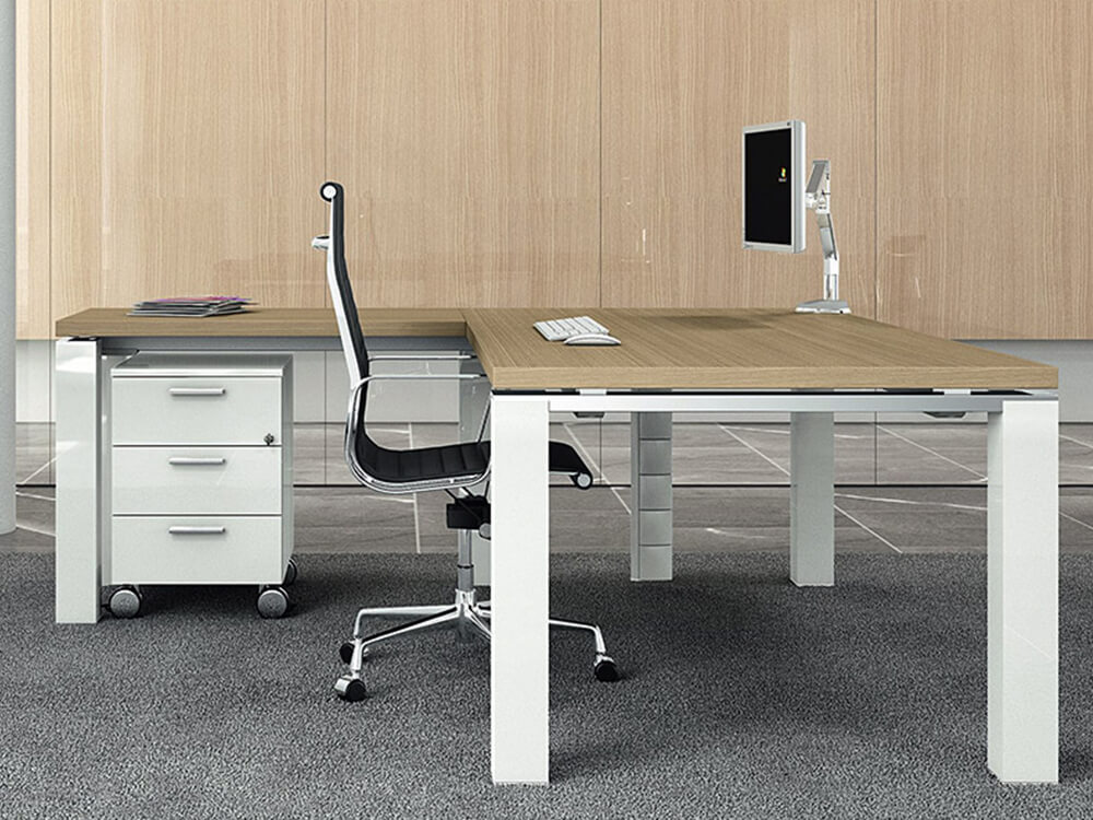 Kingsley – Straight U Leg Executive Desk With Optional Return