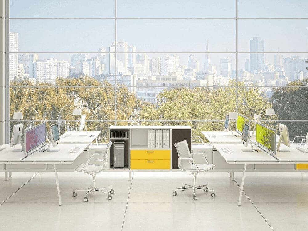 Bali – Straight Office Desk with Modesty Panels