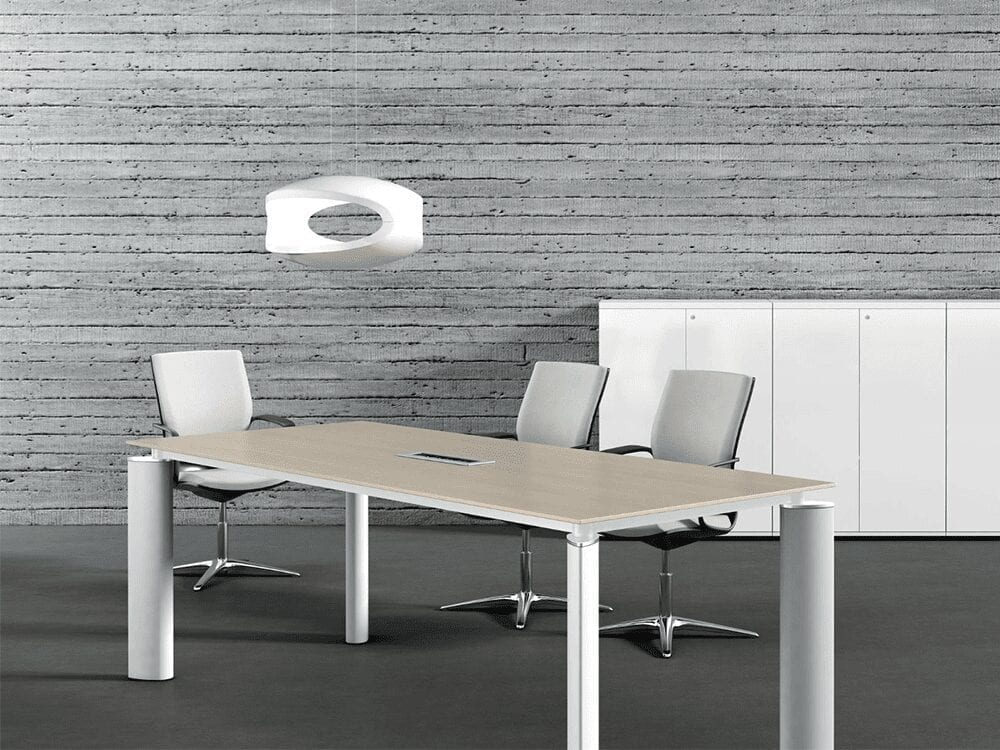 Reve – Boardroom Desk with White Legs