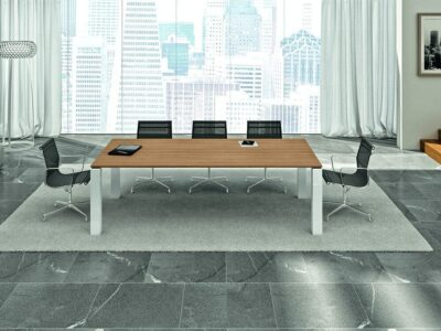 Meeting-Table-in-Canaletto-Walnut-with-White-Legs-1