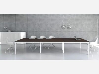 Vero – Rectangle Meeting Table with White Legs