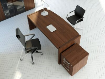 Percy – Bow Front Wooden Executive Desk